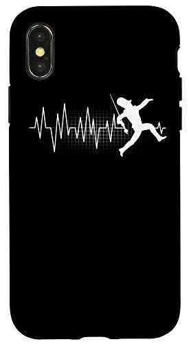 iPhone X/XS Funny Drum Major Heartbeat Marching Band Gift Men Women Kids Case