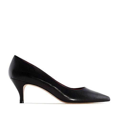 Andres Machado - Elegante Pumps für Damen/Mädchen - Amanda – Hohe Schuhe mit 7 cm Absatz/High Heels aus Leder– in Schwarz, EU 43