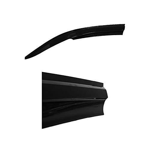 accessorypart Deflettori Aria Antiturbo per Iveco Daily 2006-2014 davanti 2 pezzi Vento fumo Pioggia Sole Deflettore Nero