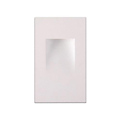 Ciata Lighting LED Indoor/Outdoor Step Light Stair Light 3 Watt, Warm White Light 3000K (White Finish, Vertical)