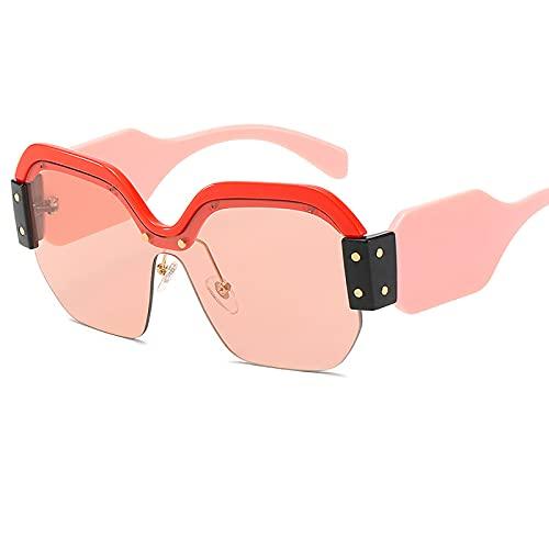 HFSKJ Gafas de Sol, Gafas de Sol de una Pieza Gafas de Sol Personalizadas con protección UV de Montura Grande Las Gafas Populares Son adecuadas para Hombres y Mujeres,D
