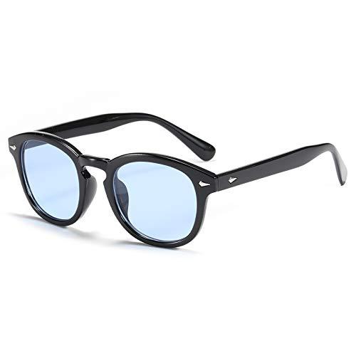 TR90 Vintage Polarized Occhiali da sole colorati retrò moda donna Tony stark occhiali da sole rotondi Blu
