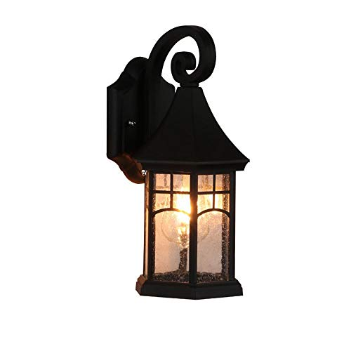 Dkdnjsk Vintage victoriana lámpara de pared alta temperatura resistencia anticorrosión lámpara de pared al aire libre linterna afuera impermeable pared luz escoce para patio jardín villa terraza puert