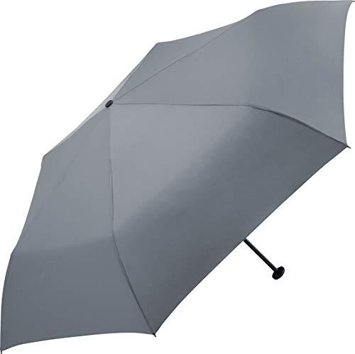 FARE Ultraleichter Mini-Taschenschirm Filigrain Only95 - Mit nur 95 Gramm der leichteste Regenschirm am Markt; Packmaß nur 20cm; perfekt für Jede Handtasche (Grau)