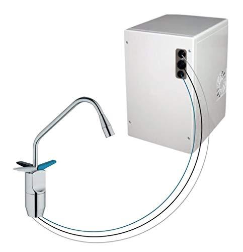 Untertisch-Trinkwassersystem SPRUDELUX® Power Soda ohne Filtereinheit inklusive 3-Wege-Zusatzarmatur. Profi-Wassersprudler für den Privathaushalt. Spritziges Mineralwasser / Sprudelwasser direkt aus der Küchenarmatur.