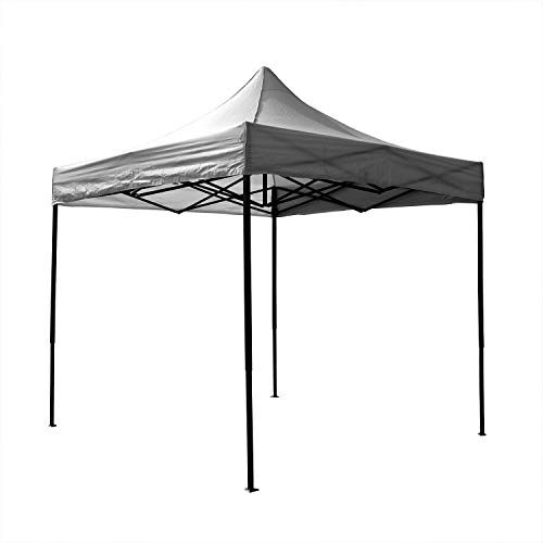 AIRWAVE Gazebo Four Seasons Essential Pop Up with No Sides Waterproof 3 x 3m (Grey)