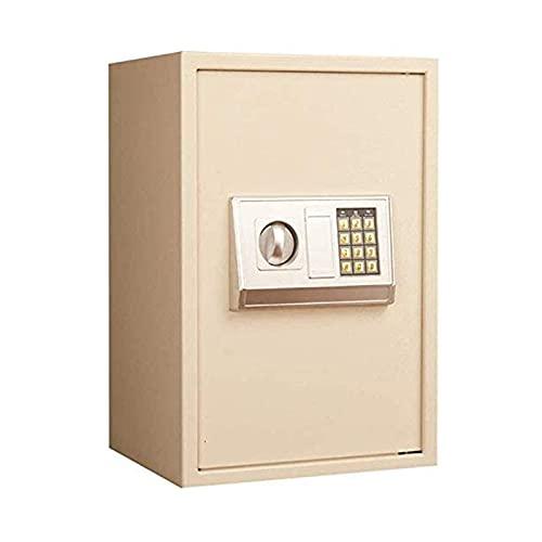 XiYou Caja Fuerte de Seguridad, Acero, contraseña electrónica antirrobo para empotrar en la Pared para oficinas en el hogar y pequeños hoteles (50x30x35cm)