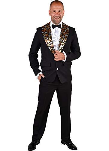M219295-XXL - Chaqueta para hombre con lentejuelas, talla XXL = 62, color negro y multicolor