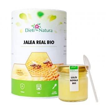 Tarro Jalea Real Bio (30g) de Dieti Natura. Ayuda a las defensas naturales y a la energía. (Pack de 2)
