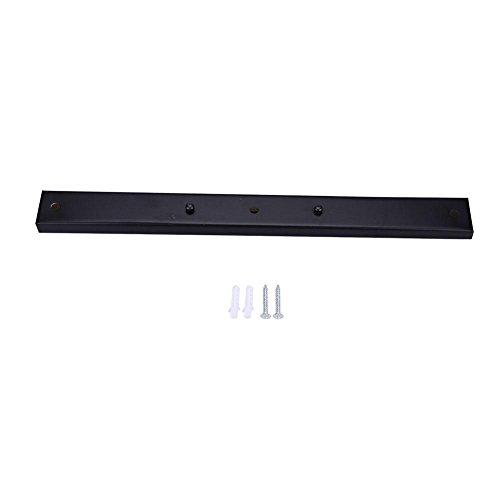 Hanglamp, plafondlamp, kandelaar, houder voor montageplaat, rechthoekige vorm, accessoires voor lamp (zwart)