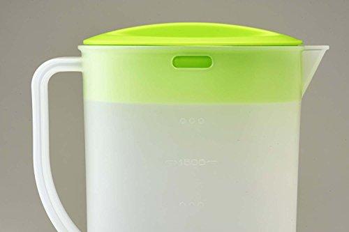 『パール金属 日本製 お茶 麦茶 ポット 2.0L グリーン クールポット デリシャすまいる H-5796』の4枚目の画像