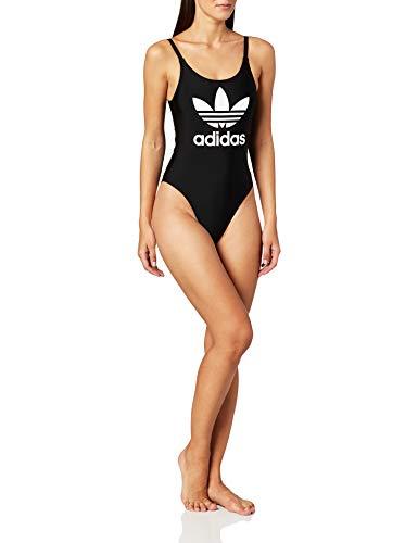 adidas Originals Badeanzug Damen Trefoil Swim ED7537 Schwarz, Size:38