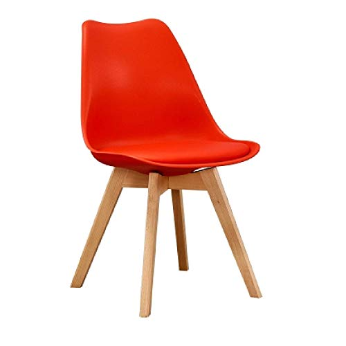China Modern Home Furniture Tulip Dining Chair with Beech Legs Plastic Dining Chair Price for Sale