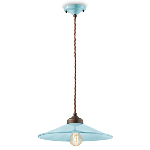 Suspension D.35 Ferroluce Retro Colours C1631 Light Blue