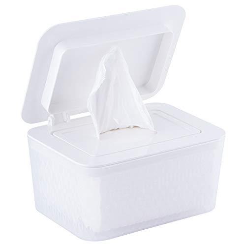 Dispensador de toallitas húmedas, caja de pañuelos húmedos para pañales de bebé sellada con tapa, caja de almacenamiento de pañuelos a prueba de polvo, contenedor de toallas de papel para casa