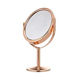 Anself Double Sided Tabletop Makeup Mirror