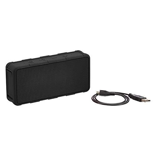 AmazonBasics Tragbarer Bluetooth-Lautsprecher, für den Außenbereich, IPX5 wasserdicht, 5 W, Schwarz