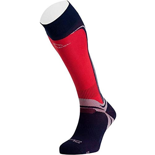 Lurbel Ski Pro – Chaussettes Unisexe, Bleu – (Marine/Rouge)