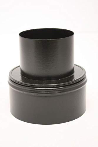 Pelletrohr Ofenrohr Pellet Rauchrohr Kaminrohr Erweiterung Ø 80mm auf 120 mm grau schwarz unlackiert (80mm auf 120 mm, schwarz)