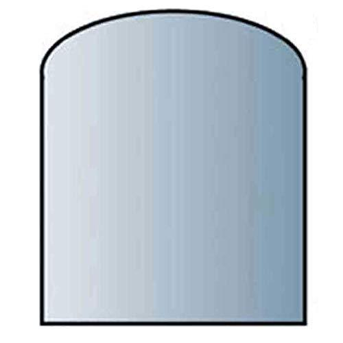 Glasbodenplatte 8 mm Stärke, 100 x 110 cm, Segmentbogen 21.02.887.2 Glasplatte Funkenschutz Platte Kamin Ofen Kaminöfen Lienbacher Vorlegeplatte Bodenplatte ESG Sicherheitsglas