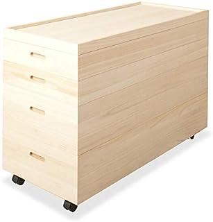 桐衣装箱 高さ64cm (キャスター付) 桐天然木 日本製 HI-0036