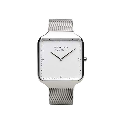 BERING Herren Analog Quarz Uhr mit Edelstahl Armband 15836-004