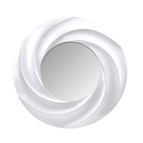 Espejo PVC Redondo Diámetro con Marco 50 cm, Interior Espejo Diámetro 27.5 cm Color Plateado y Dorado (Plateado roscado Redondo)