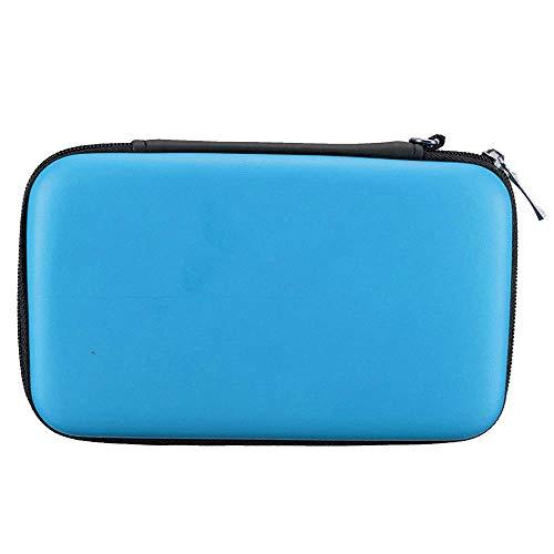 subtel® Tasche kompatibel mit Nintendo 3DS / 3DS XL/New 2DS XL/New 3DS XL Kunststoff Schutzhülle Tasche Flip Cover Case Etui blau