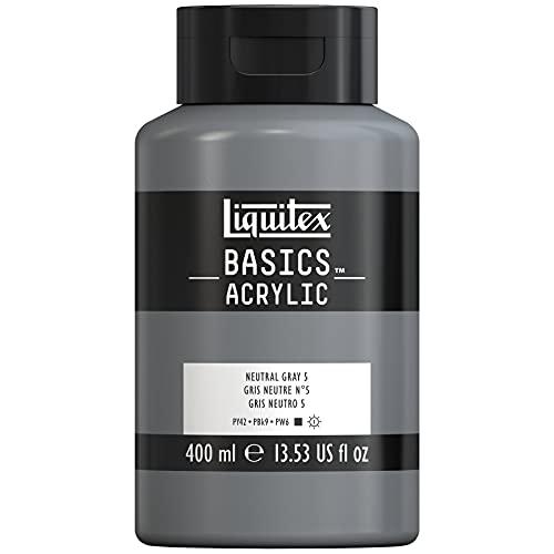 Liquitex Basics Acrylic Bote De Pintura Acrílica, Gris Neutro, 400 ml (Paquete de 1)