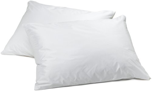 AllerEase Allergen Barrier Pillow Protectors – Waterproof Zippered Pillow Protectors, Allergist Recommended, Prevent Collection of Dust Mites and Other Allergens, Standard/Queen Sized, Set of 2