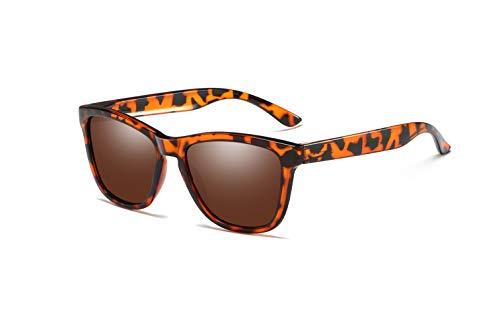 Skevic Polarisierte Sonnenbrille Herren und Damen - Fahrradbrille mit UV400 Schutz, Radbrille Sportbrille für Autofahren Running Skifahren Fischen Radfahren Wandern Golf (Schildkröte/Braun)