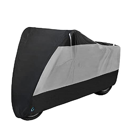 Motorcycle Cover Waterproof Motorcycle Cover Is Used For Indoor And Outdoor Dust, Snow And Rain UV Protection For All Seasons,Silver-L