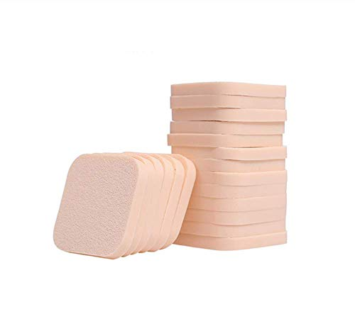 KUSAWE Éponge de maquillage 20pcs / Pack Maquillage Éponge Puff Puff Wet and Dry Utilisation Éponges du Visage Doux Powder Puff Beauty Foundation Poudre Cosmétique Puff a