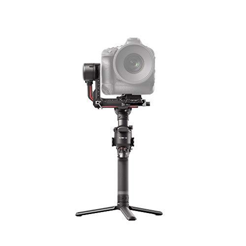 DJI RS 2 - Stabilizzatore Gimbal a 3 Assi per DSLR e Fotocamera Mirrorless, Nikon Sony Panasonic Canon Fujifilm, Ronin S, 4,5 kg di Carico, Fibra di Carbonio, Touchscreen - Nero