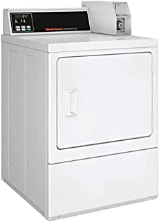 Speed Queen SDENCRGS173TW01 27 Inch Commercial Electric Dryer with 18 lbs. Capacity, Reversible Side Swing Quantum Controls in White