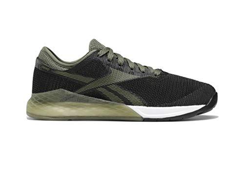 Reebok Zapato de entrenamiento Nano 9 para mujer, negro (Negro/Toldo Verde/Blanco), 39 EU