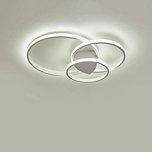 Plafoniera a LED, plafoniera rotonda moderna semplice da 54 Watt, plafoniera in alluminio acrilico nel soggiorno Camera da letto studio sala da pranzo