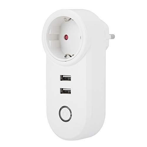 Mumusuki Intelligente wifi-controller-netschakelaar app-stopcontact voor afstandsbediening met USB-aansluiting EU-stekker 100-240V
