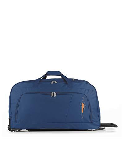 Gabol - Week   Bolso con Ruedas de Viaje Grande de Tela de 73 x 38 x 34 cm con Capacidad para 94 L de Color Azul