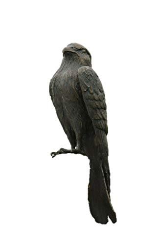 Turmfalke, Tierfigur aus Bronze, Frostfest