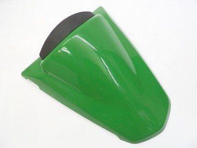 Moto vert arrière passager Pillion siège capot coussin dur ABS moteur carénage couvercle de queue adapté pour 2008-2011 Kawasaki Ninja 250R EX250 EX250J 2009 2010 08-11(Vert )
