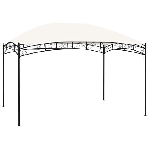 vidaXL Cenador de jardín color crema 4x3 m 180 g/m²