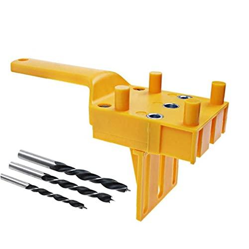 4PCS carpintería Localizador de perforación enclavijar agujero consideró Herramienta de mano Plantillas de conexión de la placa de madera Rotatorio agujero