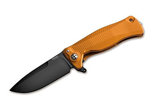 LionSteel SR22 Couteau de Poche Unisexe en Aluminium Orange Noir 18 cm