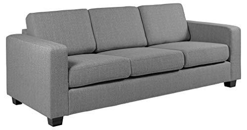 Amazon Brand - Movian Morat - Sofá de 3 plazas, 90 x 212 x 80 cm (largo x ancho x alto), gris claro