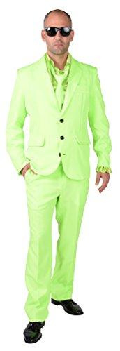 M218287-22-XXL neon-grün Herren Anzug Smoking Sakko Hose und Krawatte Gr.XXL