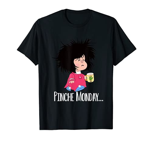 Pinche Lunes Divertido Sleepy Mafalda Español Camiseta
