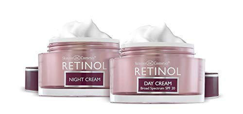 Retinol Anti-Aging, Vitamin Enriched Night Cream & Day Cream - Your 24 HOUR skincare duo that works day and night to give you younger-looking skin, 1 Ounce Each
