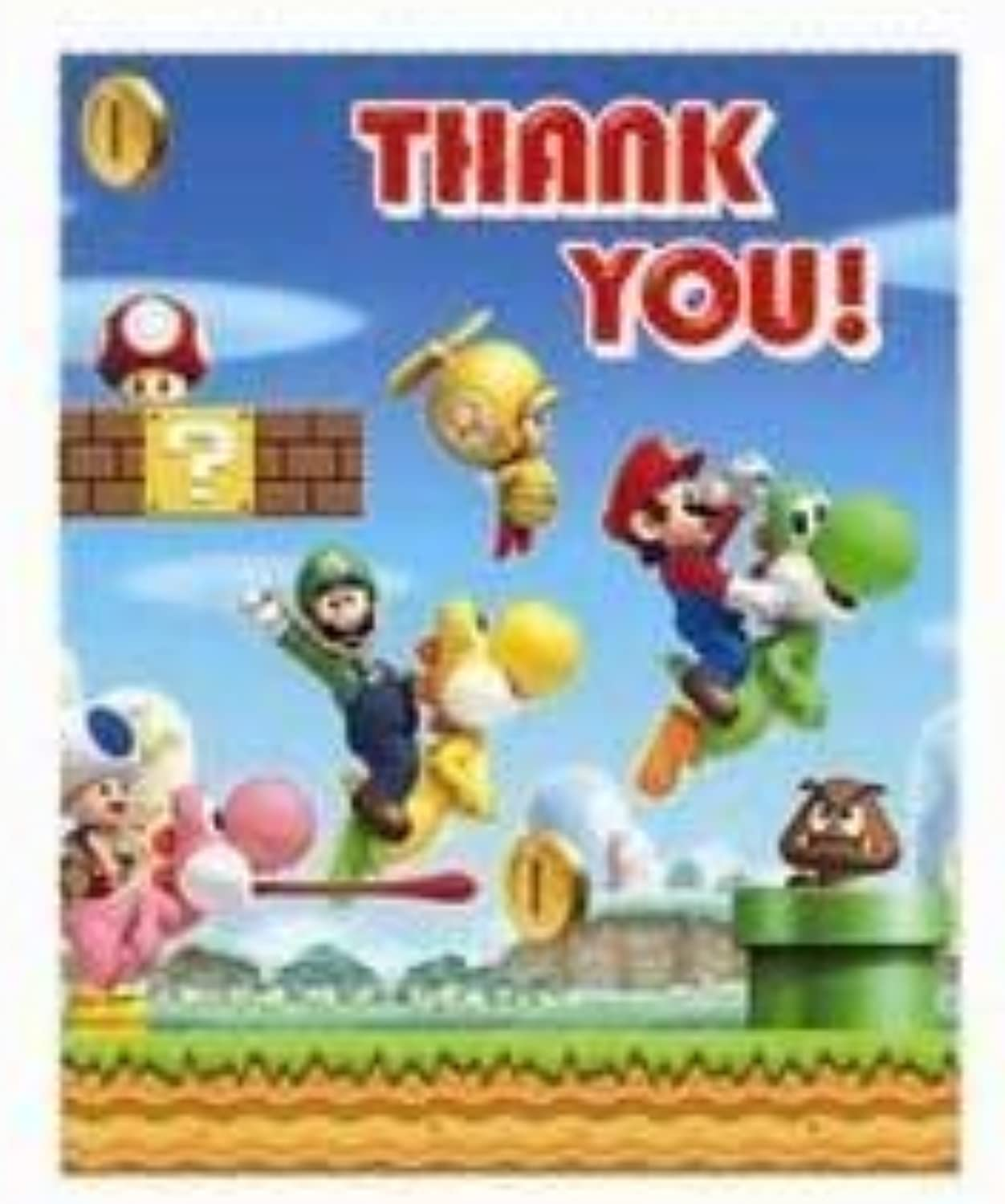 Super Mario Party Thank You Cards, pack of 6 by Super Mario