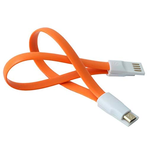 Shot Case mini-kabel, magnetisch, voor Huawei P9 Lite, universele oplader, micro-USB, magneetsluiting, sleutelhanger, 25 cm, Android (kleur oranje)
